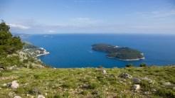 Blick vom Hausberg Srd auf die Insel Lokrum
