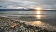 Kurzer Lichtblick am Kluane Lake