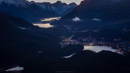 St. Moritz bei Nacht
