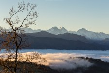 Im Abstieg nähern wir uns dem Nebelmeer