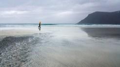 Regnerischer Tag am Skagsanden Beach