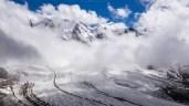 Wolkenverhangener Piz Palü