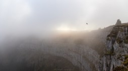 Flug durch den Nebel
