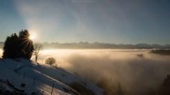 Die Nebelgrenze wiederum genau getroffen