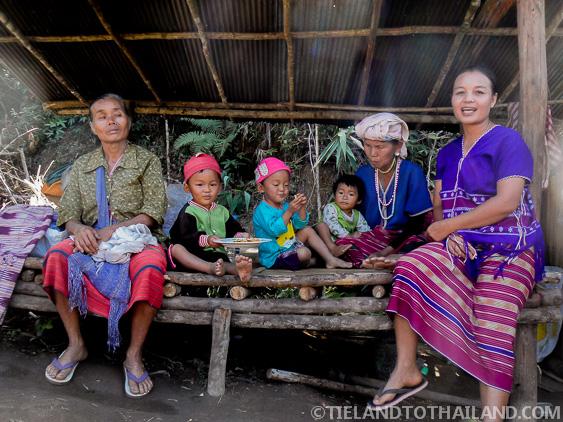Three generations of Karen hill tribe members