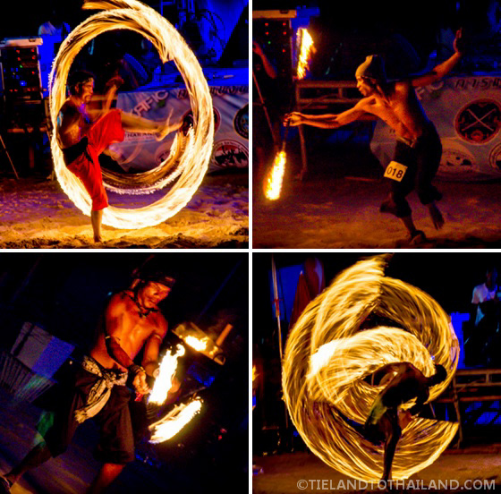 Fire Competitors at Krabi Rock and Fire International Contest