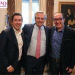 """El intendente Nardini y el senador Vivona visitaron al presidente Fernández: """"La foto que vale más que mil palabras"""""""