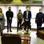 Menéndez, Zabaleta, Ghi y Descalzo se reunieron con funcionarios del Departamento Judicial de Morón