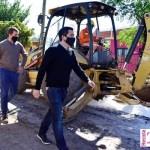 """Nardini visitó la nueva obra integral de pavimentación e hidráulica en Villa de Mayo: """"Dará acceso a un nuevo Jardín de Infantes"""""""