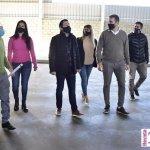 """Leo Nardini visitó la obra del futuro """"Polideportivo Municipal de Tierras Altas y Tortuguitas"""" en Malvinas Argentinas"""