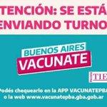 El Gobierno bonaerense envió este sábado 410.947 nuevos turnos de vacunación