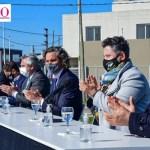"""Gustavo Menéndez recibió al Presidente Fernández y al Gobernador Kicillof: """"Se entregaron más de 350 viviendas en Merlo"""""""