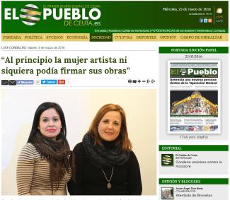 Taller celebrado el día 8 de marzo con motivo de la celebración del Día Internacional de la Mujer. Gema González y Hamidad Ahmed, trabajadoras sociales.