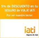 5% descuento seguro de viajes