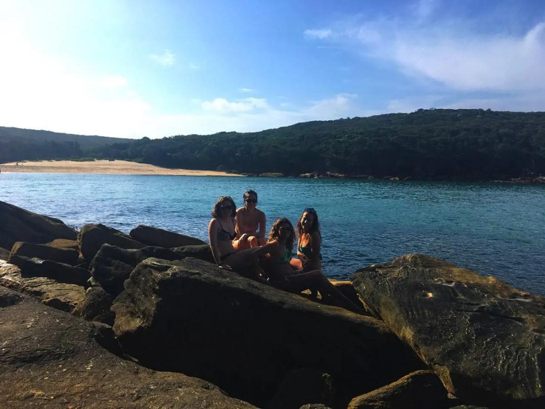 Wattamolla Beach, Royal National Park, Ruta de Sydney a Melbourne, NSW, Australia