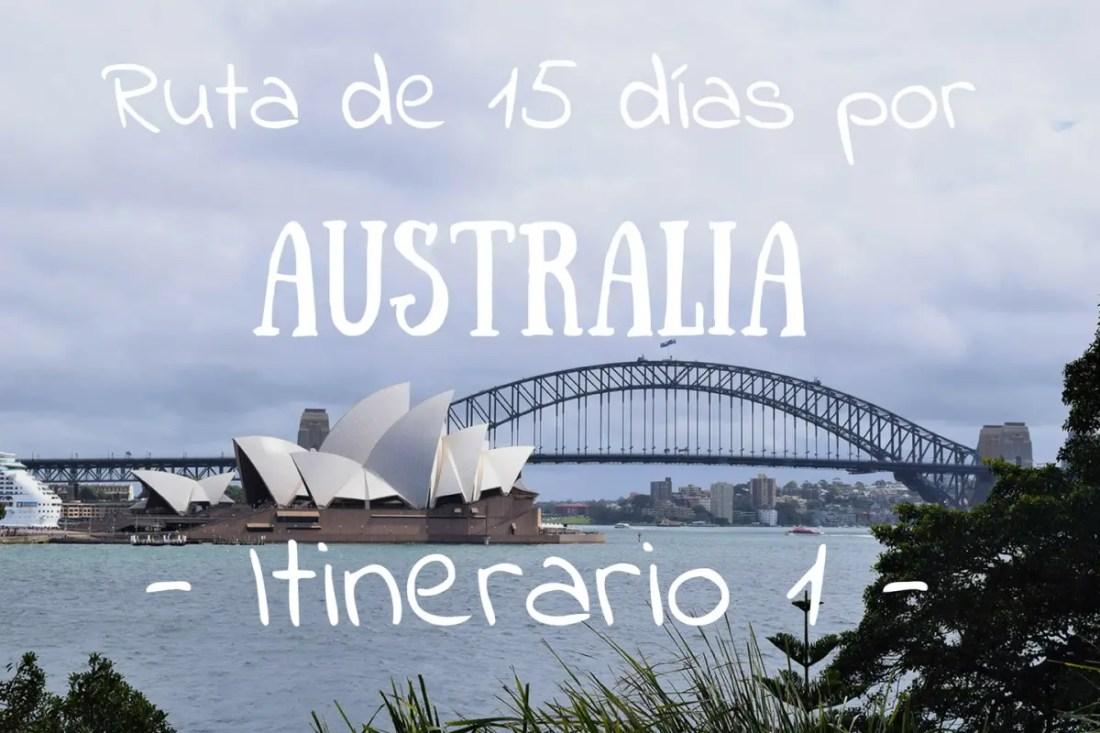 Ruta de 15 días por Australia Portada