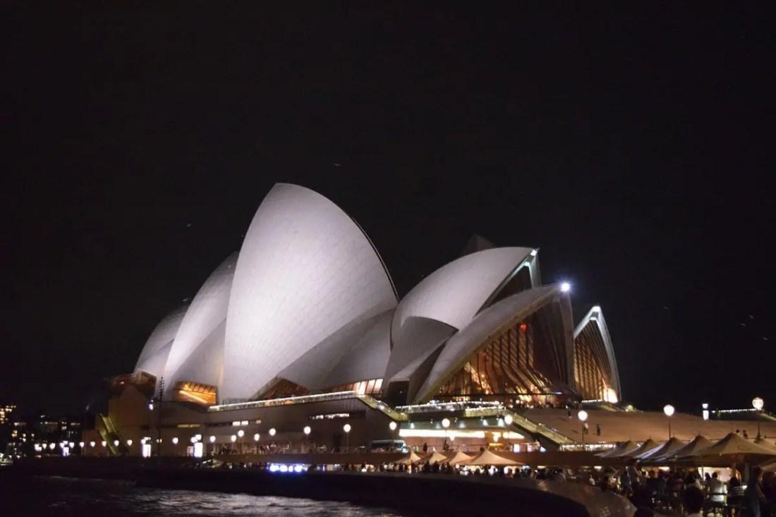Sydney Opera House Noche