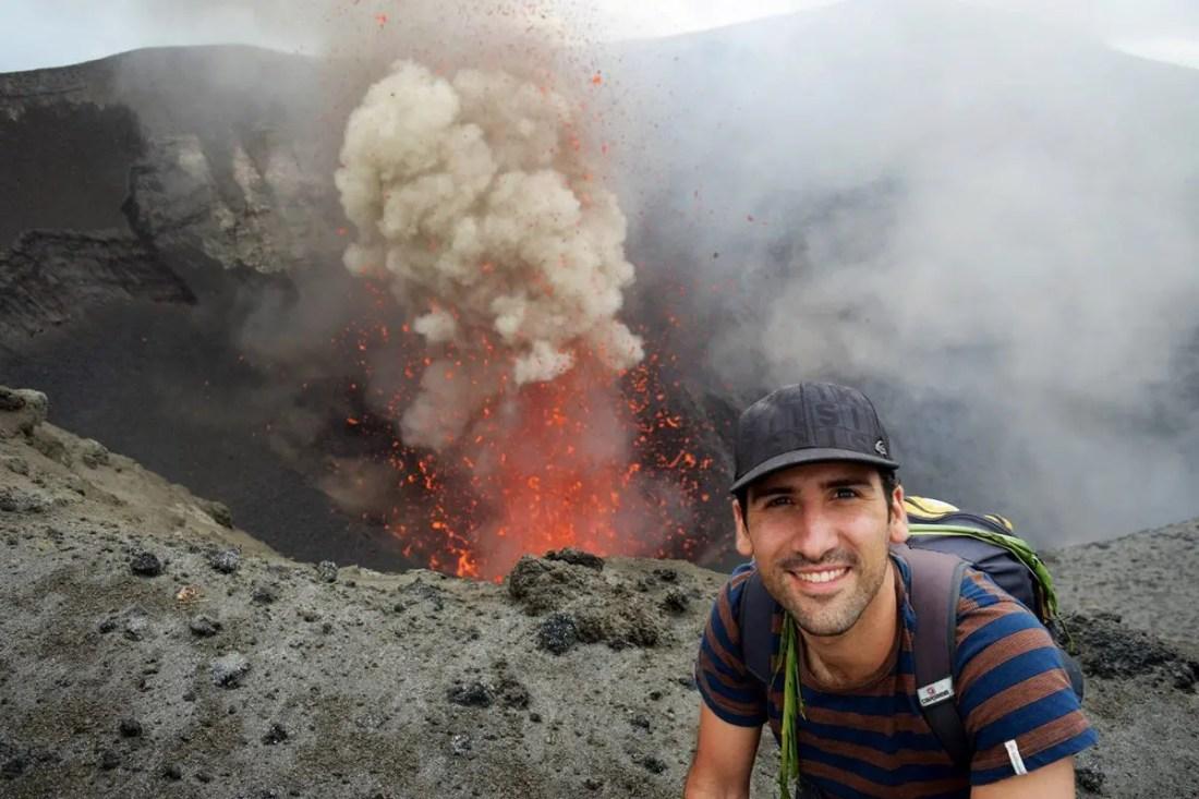 Volcan en activo Jose