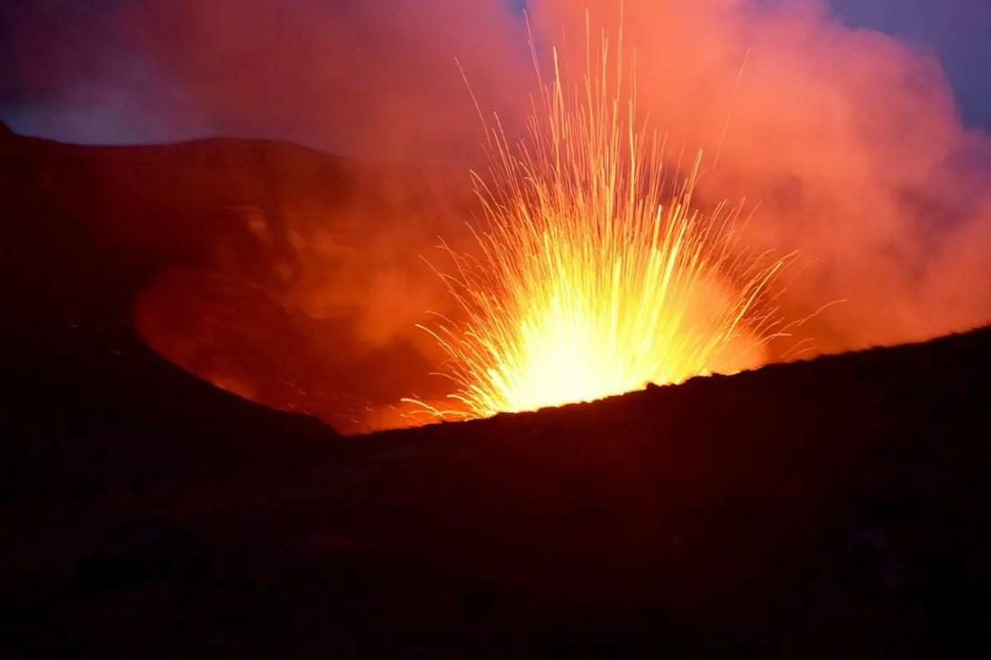 Volcan en activo