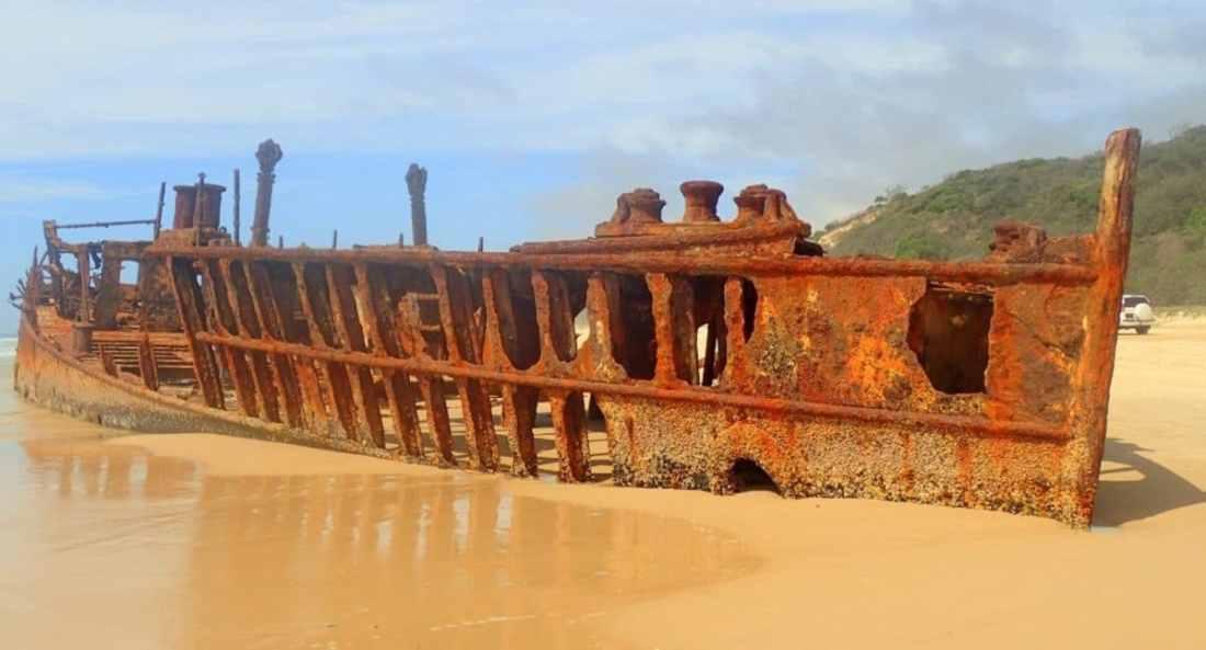 Barco naufragado de Fraser Island Austalia