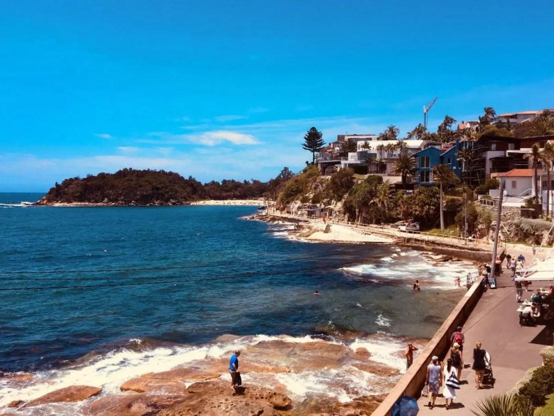 playas de Sydney Shelly Beach