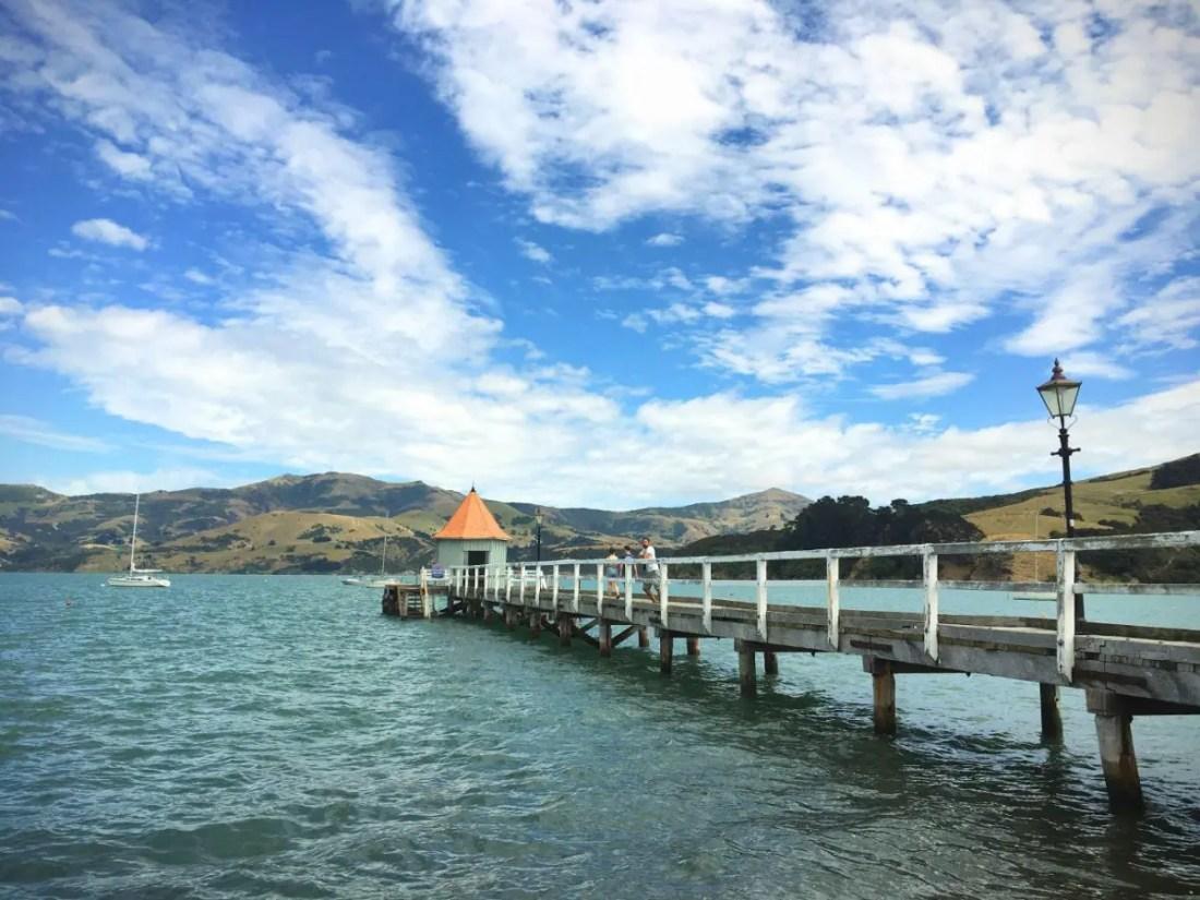 Akaroa Isla Sur Nueva Zelanda