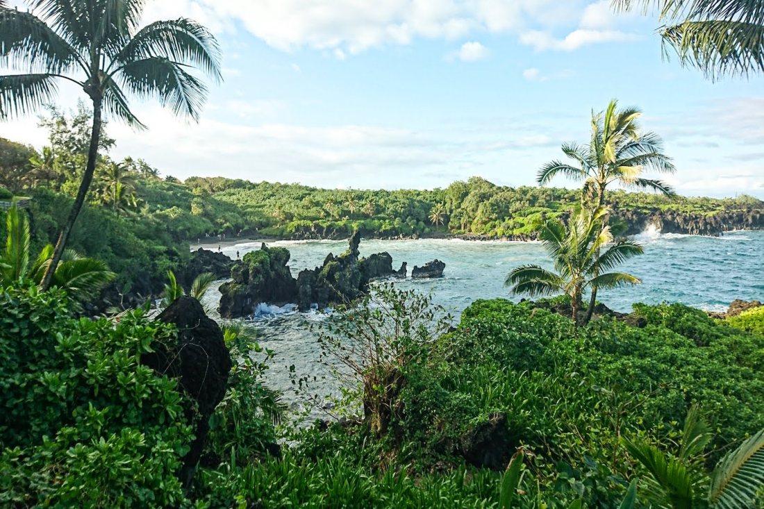Black Sand Beach Maui Hawaii