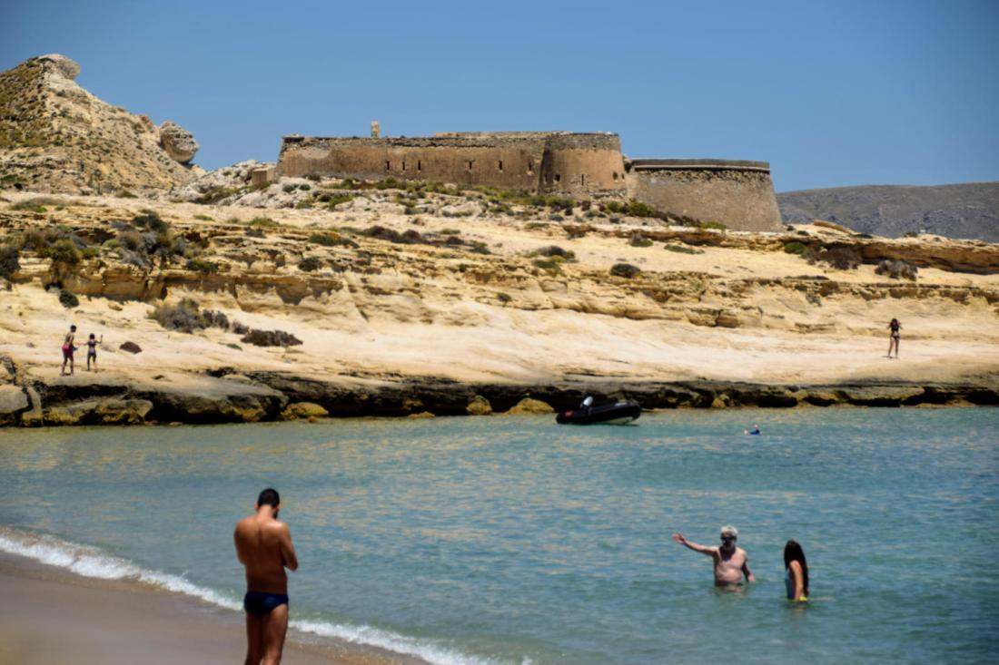 Castillo de San Ramón El Playazo de Rodalquilar Cabo de Gata