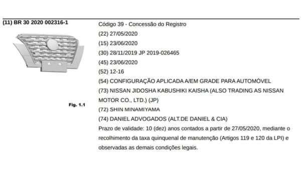 Nissan_Kicks_2021_registro_INPI_Brasil_1