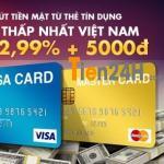 Rút tiền mặt từ thẻ tín dụng ngân hàng
