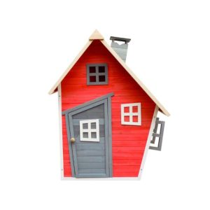 casita infantil fantasy red decorada.