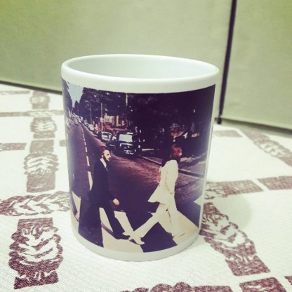 Beatles Inmortales Abbey Road - Jarro de cerámica personalizado