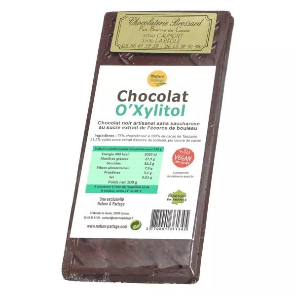 chocolate negro O'xylitol