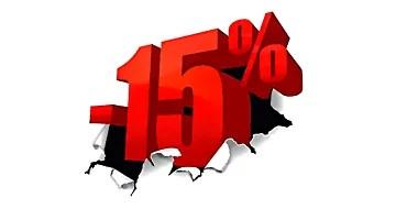 Cupón de descuento 15%