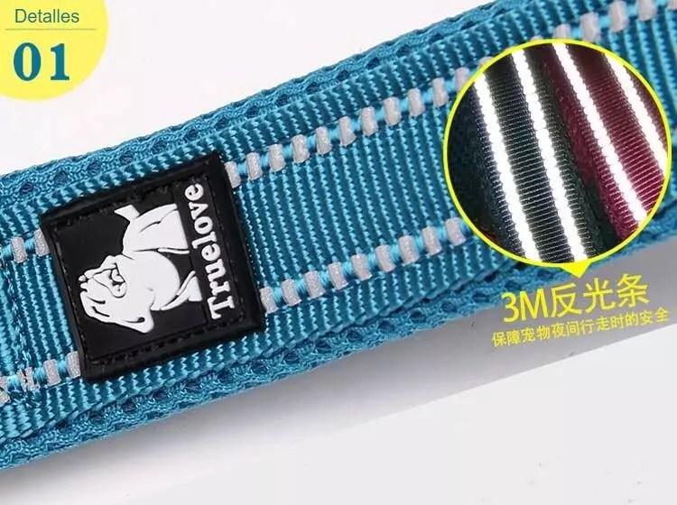 Correa de malla de nailon suave de 200cm para perro, doble grosor, para correr, reflectante, seguro para caminar, entrenamiento