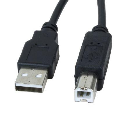 Cable de Impresora USB 2.0 Tipo B a Tipo A macho 1.8m