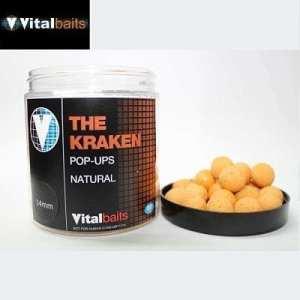 Pop ups The Kraken natural Vitalbaits - Pop ups The Kraken Natural Vitalbaits