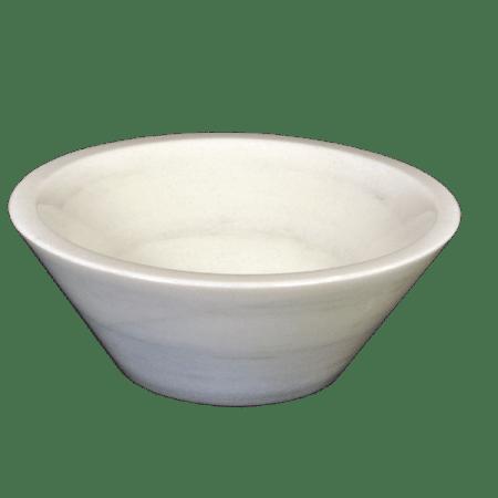 Lavabo de mármol modelo AM32 en color blanco macael