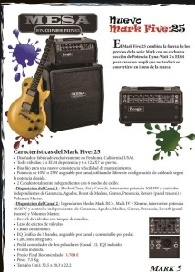 Nuevo Mesa Boogie Mark Five 25 Disponible