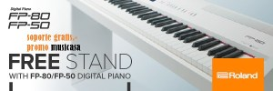 roland fp-80 fp-50 soporte gratis.-  promo musicasa