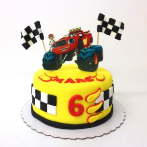 Tarta Fondant Blaze and the Monster Machine (en oblea 3d)