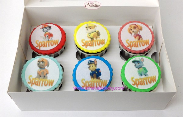 Caja de 6 ó 12 Cupcakes Patrulla Canina
