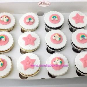 Cupcakes unicornio caja 12 unidades