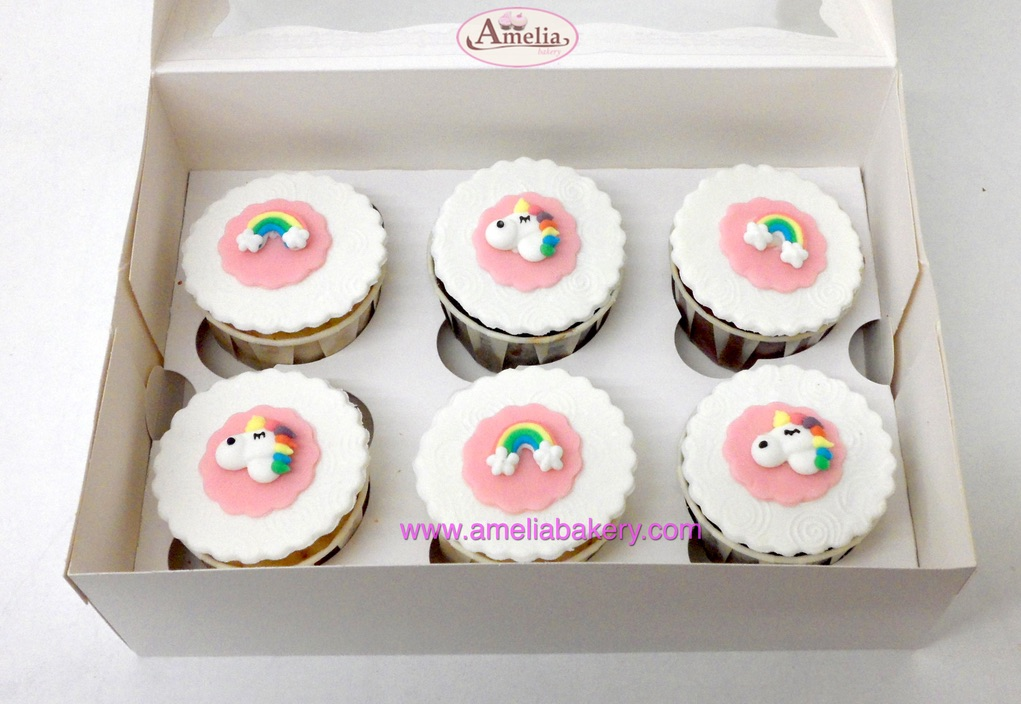 Cupcakes unicornio caja 6 unidades