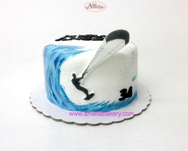 Tarta Fondant Surf / kite surf / wind Surf