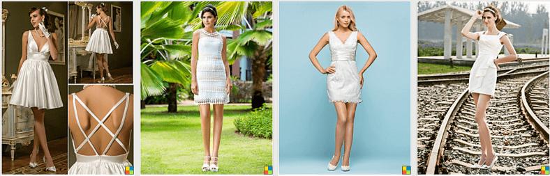 Vestidos de novia baratos y cortos lightinthebox