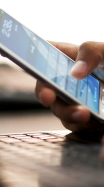 Configurar teléfono móvil y configurar ordenador portátil