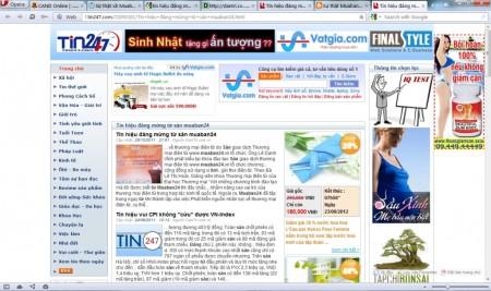 Báo Dantri đưa tin về MuaBan24 (đã bị xóa trên site của Dantri)