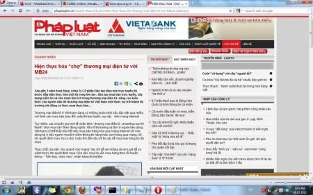 phapluat.vn đưa tin về MuaBan24.