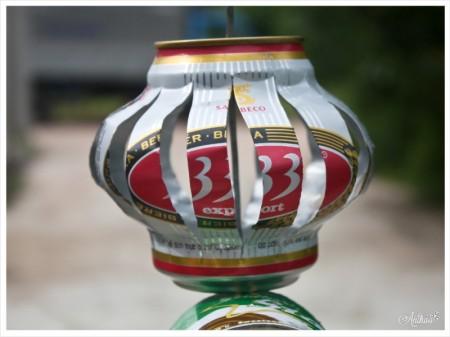 Đèn trung thu từ lon bia. Ảnh: sưu tầm